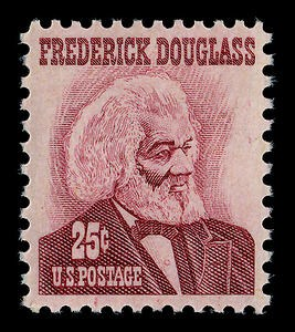 Douglass stamp: 1965 U.S. Postage Stamp, published during the upsurge of the civil rights movement