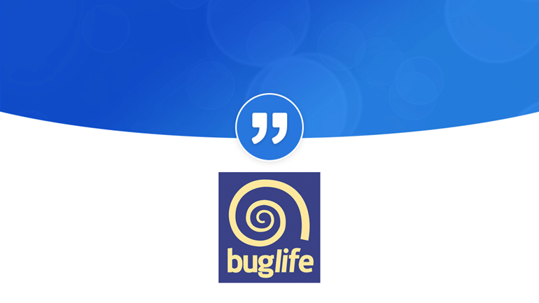 "Bug Life ""PRgloo is a brilliant simple to use platform"": BuglifeQuote"