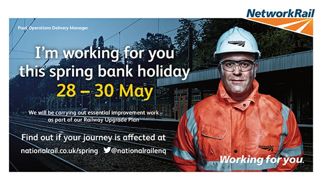 Investment in bigger, better railway continues over spring bank holiday weekend: Check Before You Travel featuring Paul Clark, operations deliver manager