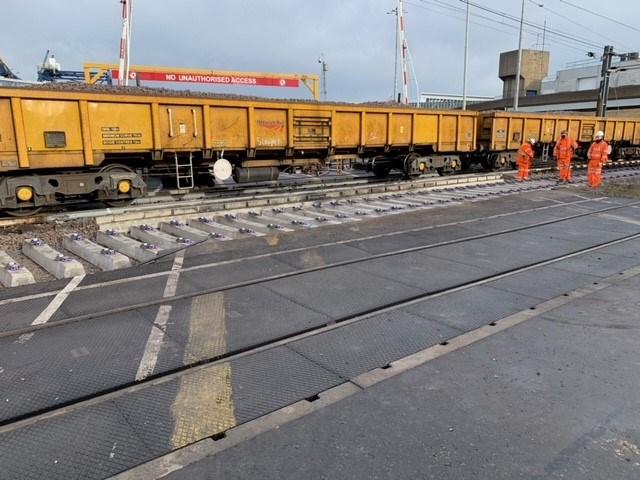 Harwich branch line track renewals 6