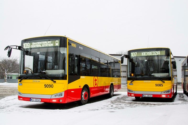 Arriva commences new bus contract in Warsaw: Arriva bus services in Warsaw