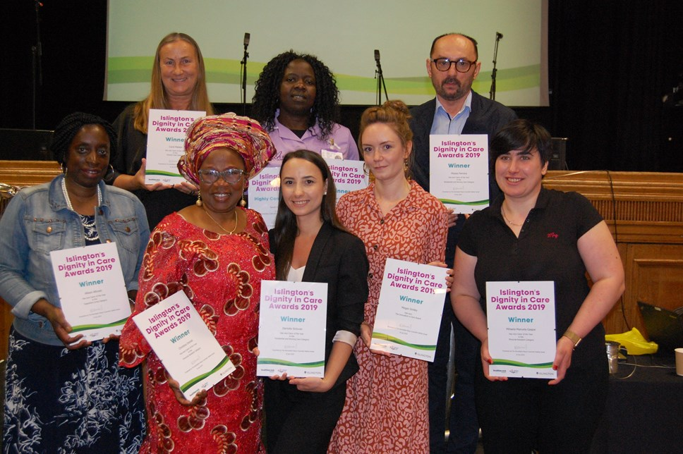 Islington's outstanding care workers recognised at Dignity in Care Awards: Dignity In Care Award winners
