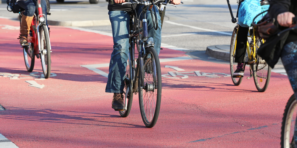 Bikes in cycle lanes