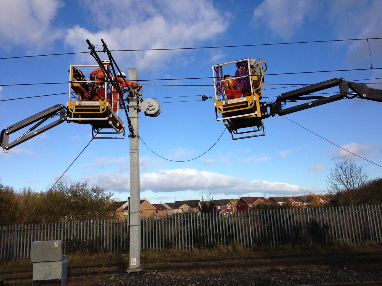 Major Easter milestone targeted on Shotts electrification work: IMG 0910