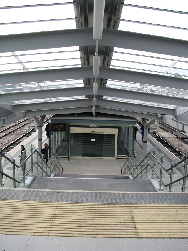New stairs to platforms 4b and 5b Derby Station