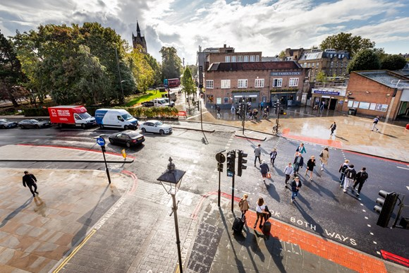 TfL Image - Highbury Corner post works - overview