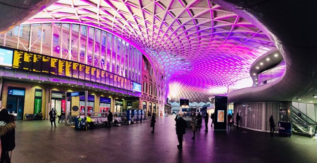 King's Cross station lights up purple to celebrate disabled people worldwide: King's Cross station lights up purple to celebrate disabled people worldwide-2