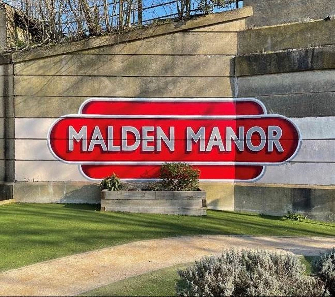 Iconic murals at Malden Manor, Chessington North and Tolworth brighten up South West London: Malden Manor mural
