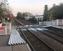 Halesworth level crossing completed