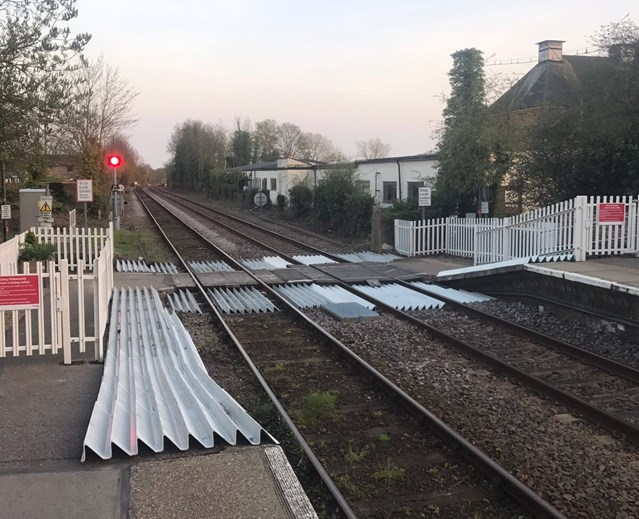 New gates in place to improve safety at Suffolk level crossing: Halesworth level crossing completed