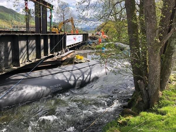Black Bridge possession 19 May machinery on bridge