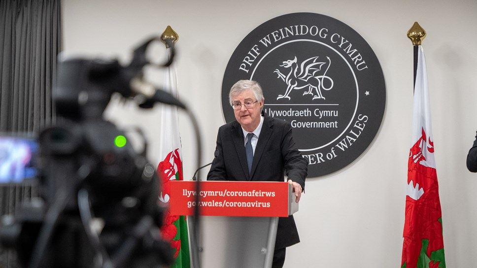 First Minister announces further steps to unlock Wales: FM Presser Camera 1