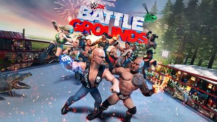 BRAWL WITHOUT LIMITS IN WWE® 2K BATTLEGROUNDS: WWE2K BG Key Art