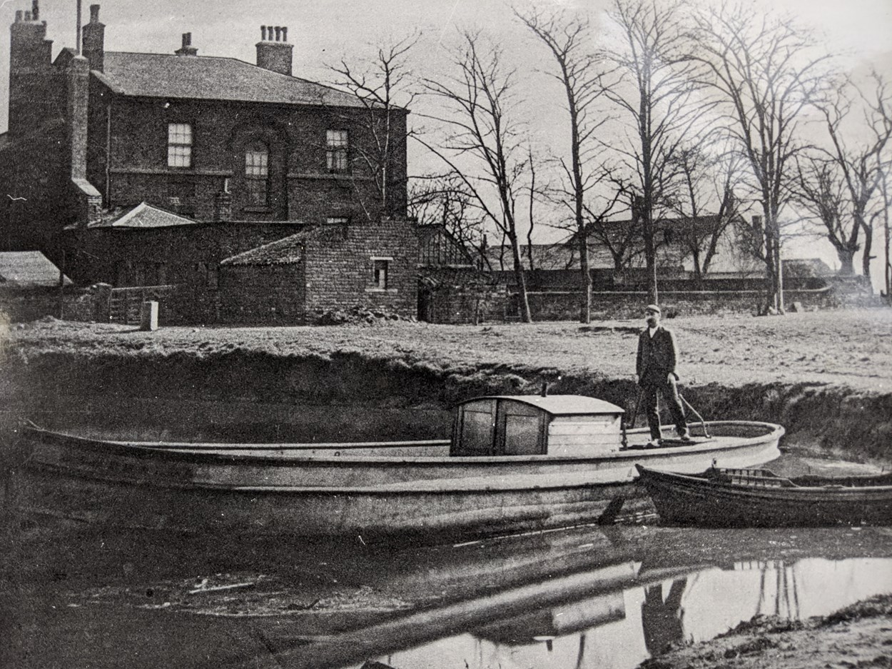 Thwaite at 30: William Horn, member of former owners the Horn family in the Mill Pond. The family arrived at the mill in 1872. Credit Thwaite Mills Society Archive .