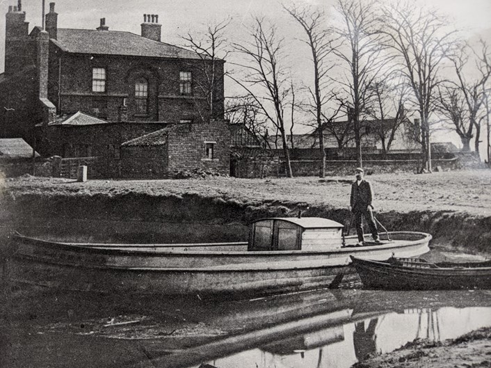 William Horn in the Mill Pond - Thwaite Mills Society Archive - Copy