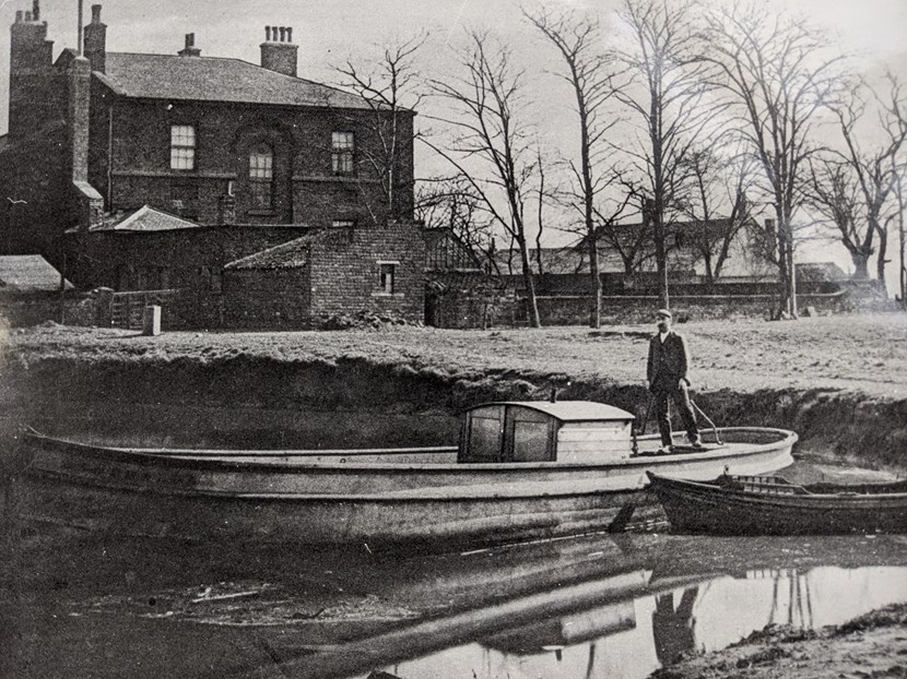 Mill's milestone exhibition is a breath of fresh Aire: William Horn in the Mill Pond - Thwaite Mills Society Archive - Copy