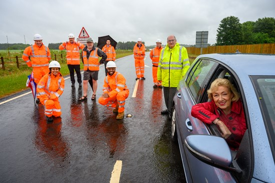 Andrea Andrea Leadsom on the Chipping Warden relief road: Credit: HS2 Ltd