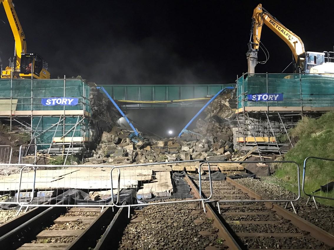 Siddick bridge after demolition