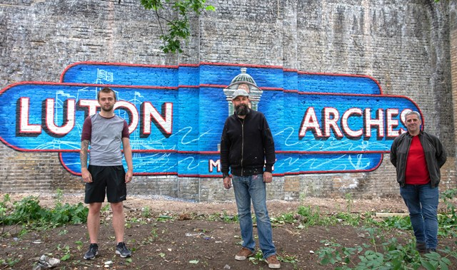 Looks like Victory… Network Rail mural brightens railway landmark and pays tribute to maritime history of Chatham, Kent: Luton arches mural, Chatham