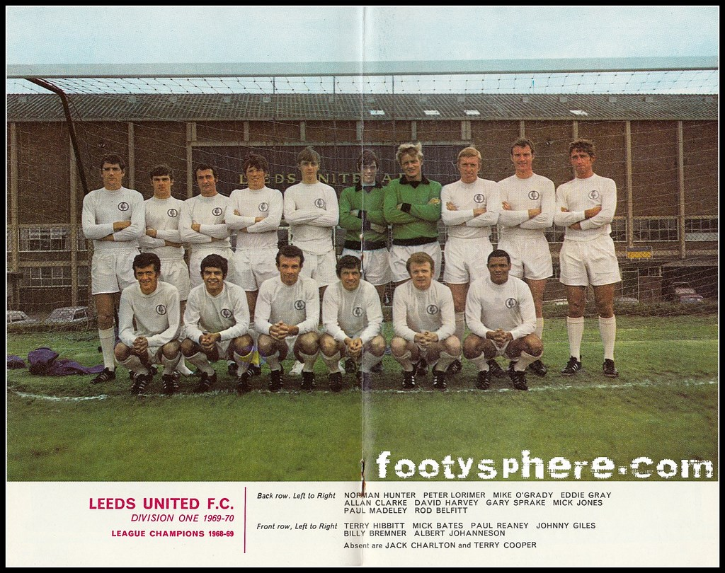 Leeds United 1969 - 1970. Image © Football League Review: The 1969 - 1970 season Leeds United Mens team, featuring  Albert Johanneson. A firm favourite with both the club and the fans, Albert suffered from racism on the pitch and had a troubled personal life.  Image © Football League Review