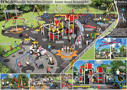 OPTION A - Hags- Junior Play Visual: Winning design for the junior area of Blagrave Recreation Ground