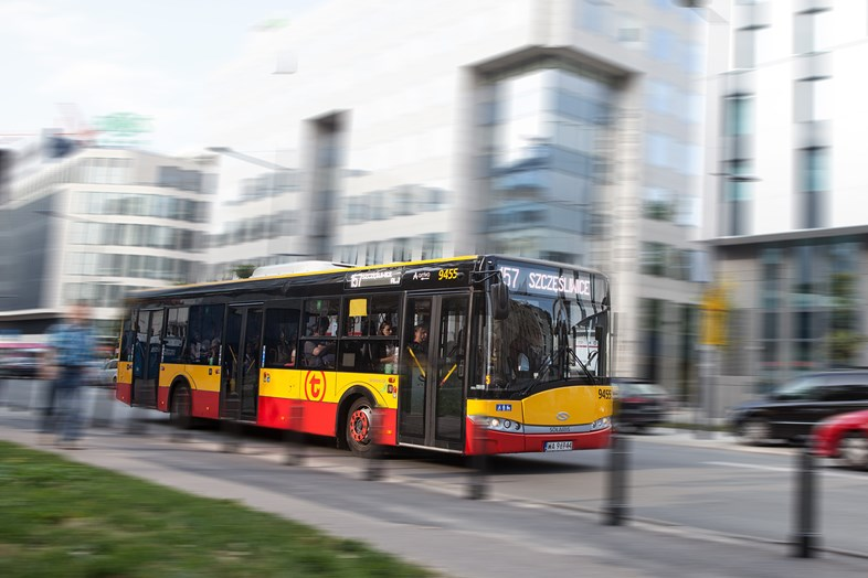 Arriva commences third urban bus contract in Warsaw: Arriva Poland CNG buses - Warsaw