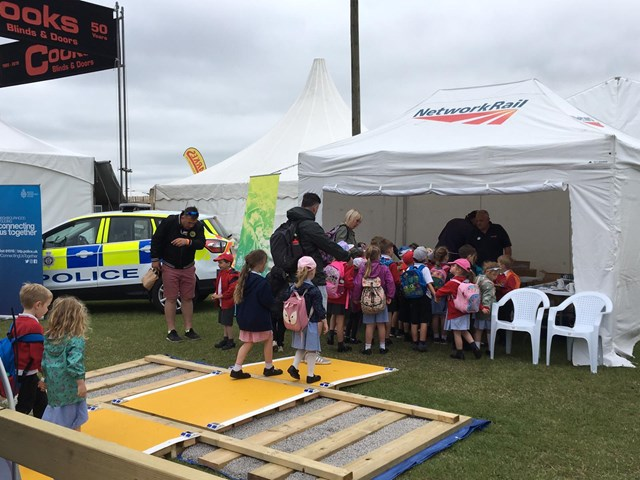 Mock-up level crossing helps public understand the importance of railway safety: Norfolk show-6