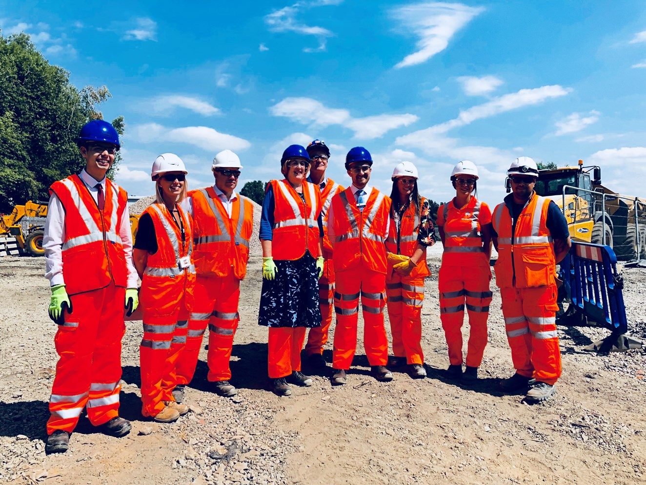 Local MP views progress on new £46m train depot in Wigan: Yvonne Fovargue MP and representatives from Network Rail and Northern