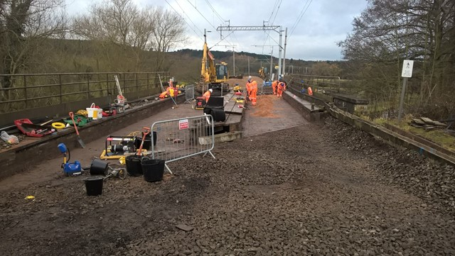 Trent and Mersey Canal bridge work near Stafford