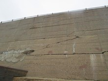 Damage to the sea wall at Dover, Kent picture 2