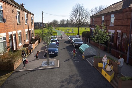 Audley Road - Levenshulme - Filtered Neighbourhood - Visualisation