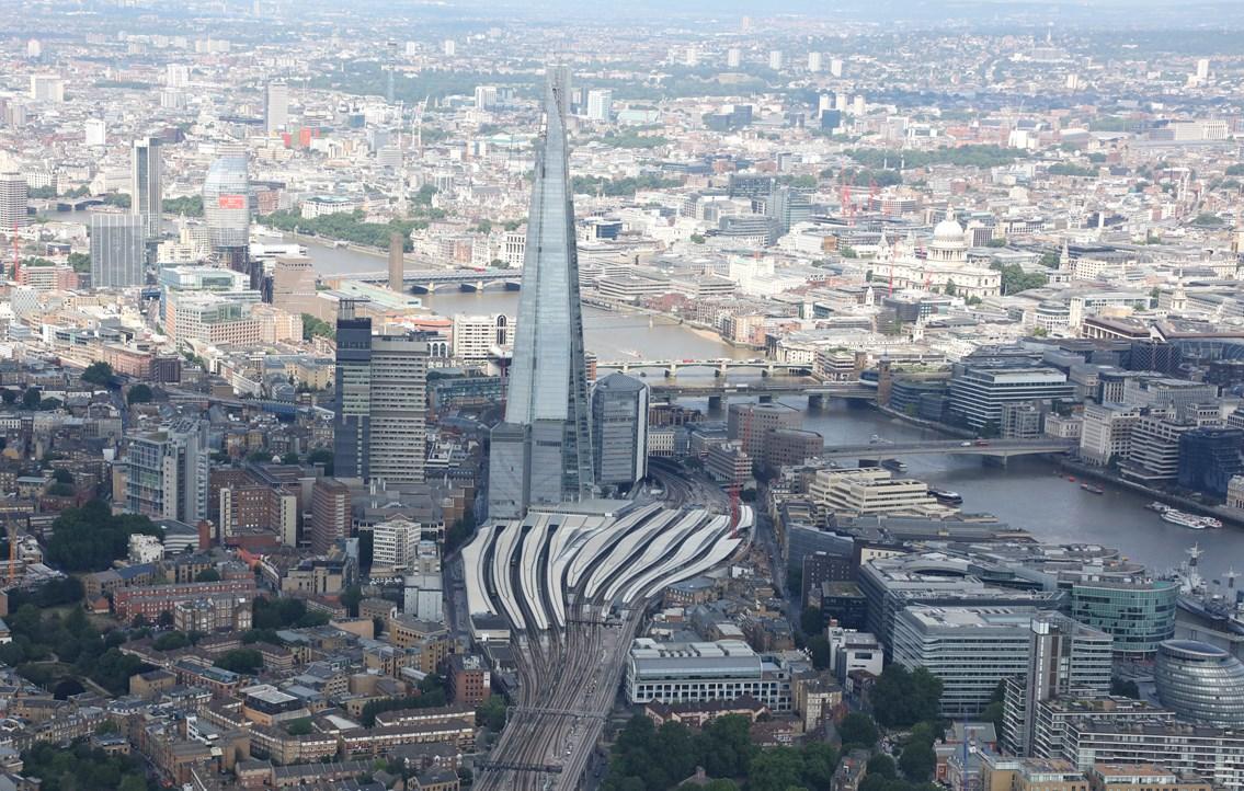 London Bridge: London Bridge aerial view July 2017