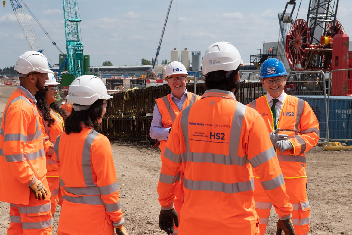 Transport Secretary to give the go-ahead for start of permanent works on HS2's west London 'super-hub' station: Old Oak Common Start of Construction works event