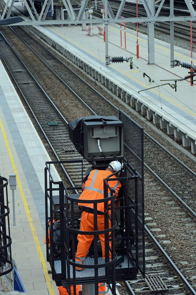 New signalling at Stafford completed on time and on budget: Signal testing at Stafford