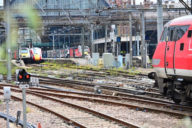 Rail industry issues reminder to passengers as first planned closure of East Coast Main Line in 20 years is fast approaching: The track layout at King's Cross railway station