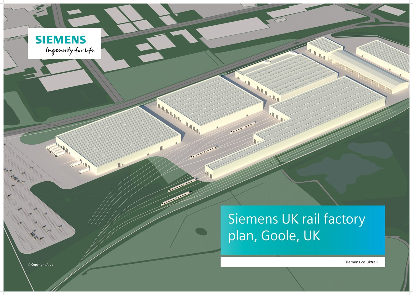 Siemens plans new rail factory in Goole, UK: Siemens plans new rail factory in Goole UK