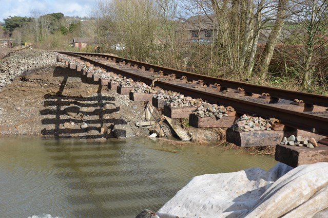 Fascinating drone footage reveals extensive damage on Conwy Valley Line: Conwy Valley Line March 2019