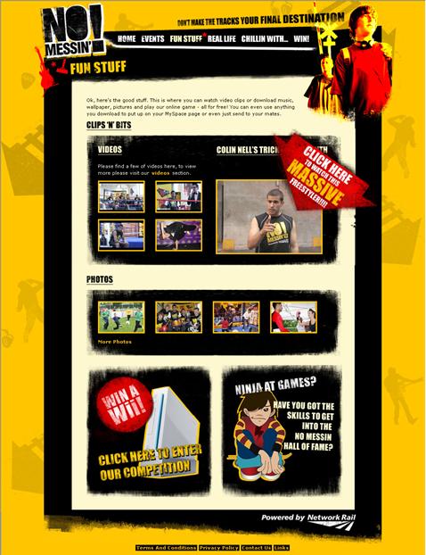 New No Messin' Website - Funstuff