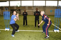 Malawian football coaches on partnership visit