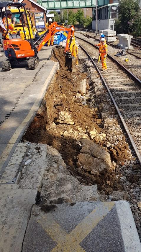 Track renewals at Witham - platform 1 rebuild