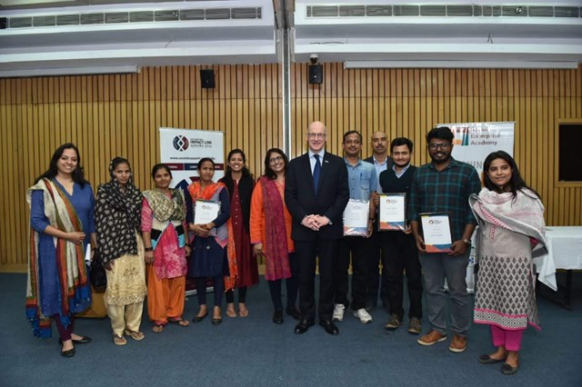 1- Deputy First Minister John Swinney with social entrepreneurs in India