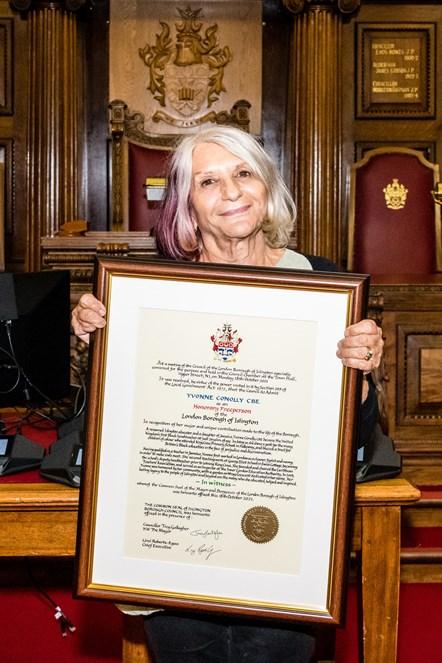 Freedom of the Borough - Sue Seifert (friend of Yvonne Conolly CBE)