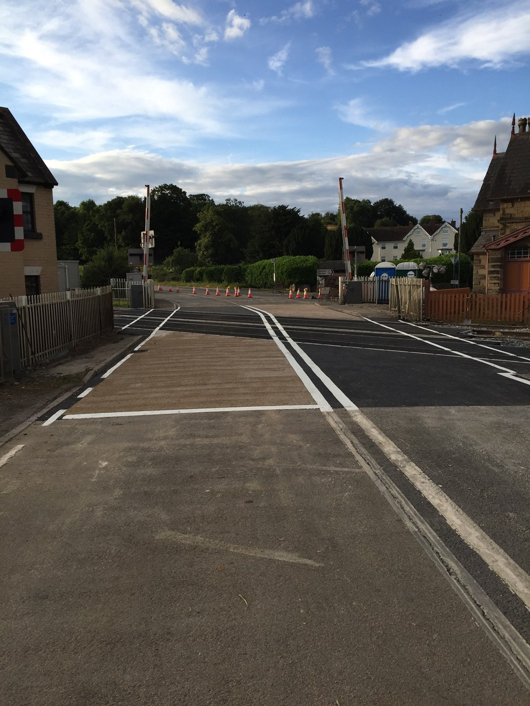 Shropshire road users benefit as Onibury level crossing upgrade is completed earlier than planned: Onibury Level Crossing-7