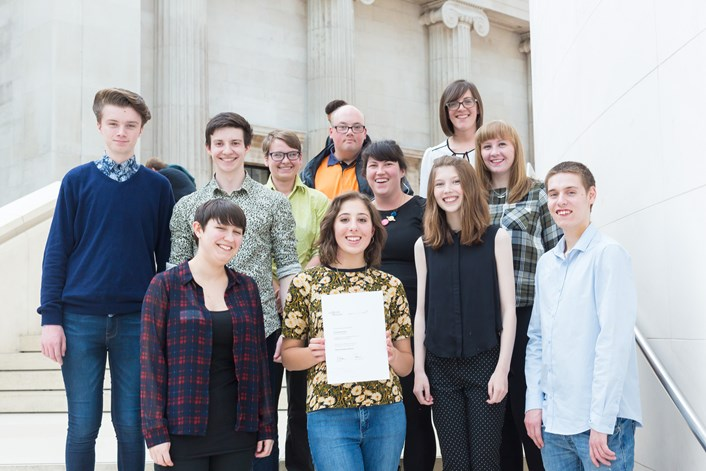 The Preservative Party: Members of the group receiving the Marsh Award for Museum Learning for the Yorkshire region at a special ceremony at London's British Museum in 2019.