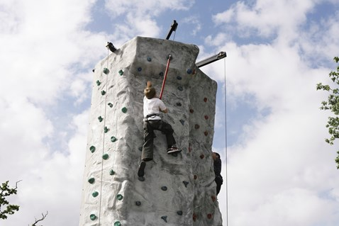 No Messin' activity - rock climbing
