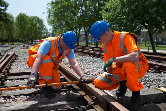 Get your career on track with the Network Rail apprenticeship scheme: Network Rail apprentices