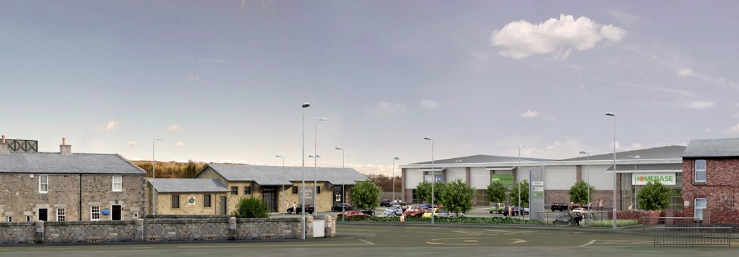 Work starts on £8m Hexham Goods Yard retail development: Porposed retail development at Hexham