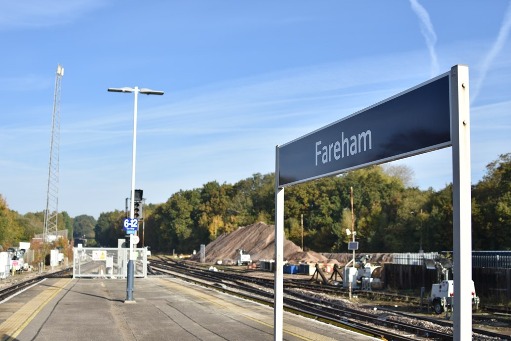 VIDEO and PICTURES: A better, more reliable railway: Network Rail completes Hampshire railway upgrades on time: Network Rail has completed nine days of upgrade works at Fareham in which nine sets of points were replaced [3]