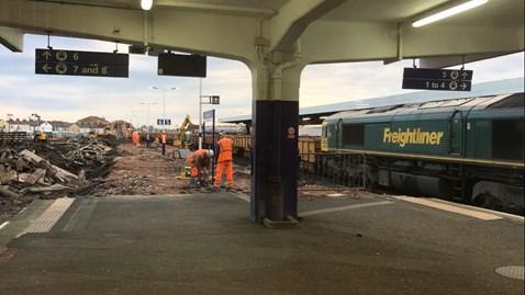 Blackpool platform demolition week 1