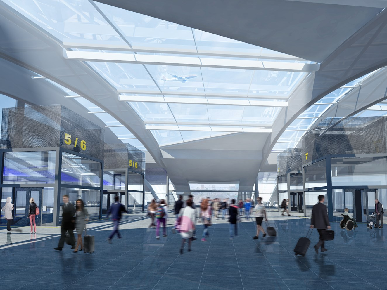 Major proposals unveiled to upgrade Gatwick Airport station: Gatwick Airport redevelopment - CGI2